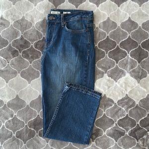 Calvin Klein Relaxed Capri Blue Jeans Denim
